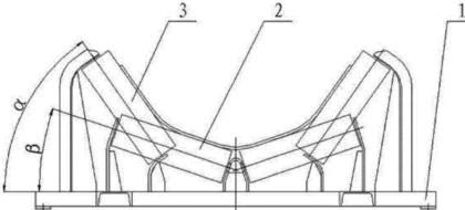 橡胶带深槽托辊组结构图