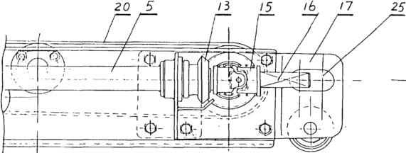 胶带输送机动力单元视图