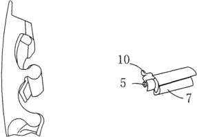 皮带扣侧视图及橡胶带卡紧装置图