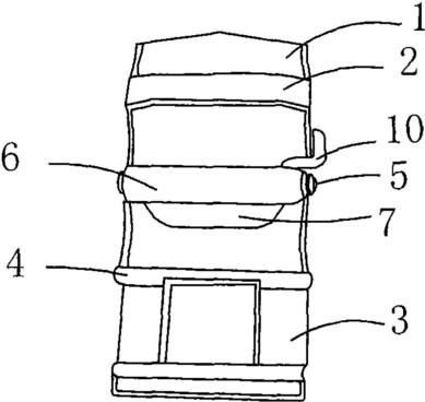 输送机皮带扣正面操作视图