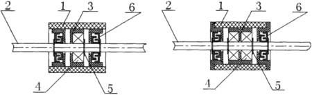 橡胶输送带托辊辊体结构图